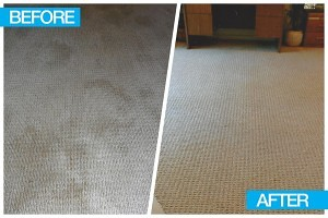 Before and after image for the best placerville carpet cleaner